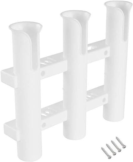 PoeHXtyy Porte-Cannes /à p/êche Supports de Canne Tube Rack Triple Canne pour la p/êche /à la Canne la p/êche hauturi/ère et la tra/îne