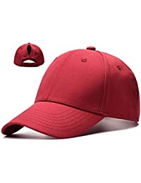 d8d77afdd6a4e Ponytail Baseball Cap Hat Adjustable Outdoor Sports Cap Hat for Women  Famale Girls