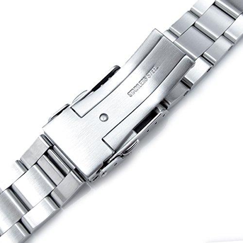 22mm Super 3D Oyster Watch Bracelet for Seiko Diver SKX007 SKX009 7002 Curved End