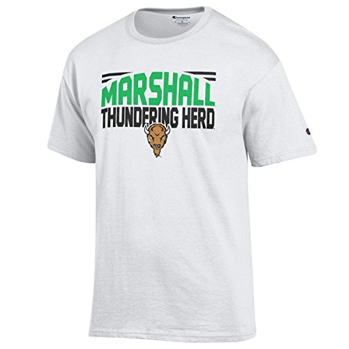 NCAA Champion Men's Push Ahead Short sleeve T-Shirt Marshall Thundering Herd Medium