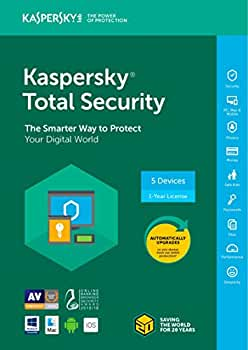 Kaspersky Total Security 2018, 5 Devices / 1 Year (Key Card)