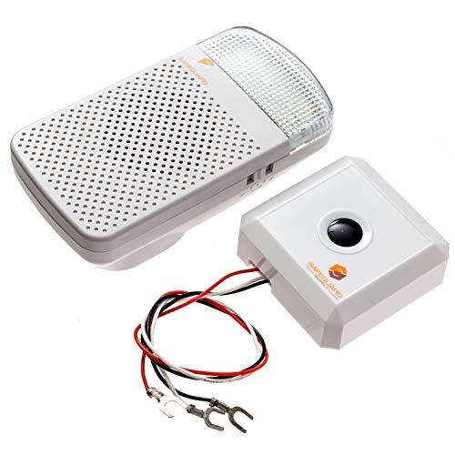 Safeguard Supply Doorbell Extender EX1000S- Doorbell Extender To Use With Existing Wired Doorbell - Convert Your Wired Doorbell into a Wireless Door Bell - 1000' 95dB Doorbell Extender Wireless Kit