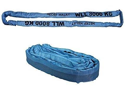 Rundschlinge 3000kg Tragkraft endlos mit Polyesterkern Gelb 2m Umfang Hebegurt Hebeband