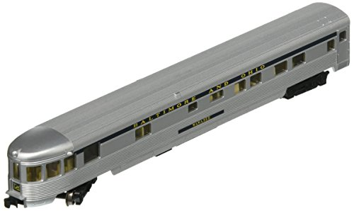 Bachmann Industries Streamline Fluted Observation Car with Lighted Interior - B&O (N Scale), 85'