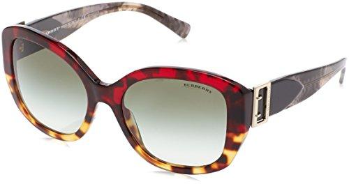 Burberry BE4248 36358E Red Havana/Light Havana BE4248 Square Sunglasses Lens - Sunglasses Burberry Red