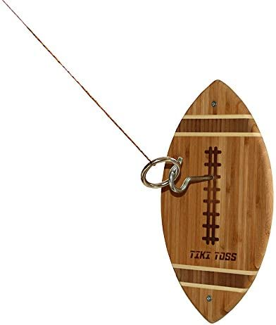 Deluxe Tiki Toss Football Edition 100/% Bamboo Original Hook /& Ring Game
