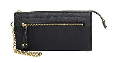 Olivia and Joy Womens Fashion Designer Handbags; Womens Zoom Zoom Clutch Wallet Black