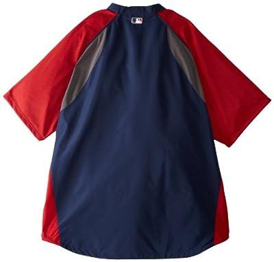 MLB Atlanta Braves Gamer Jacket Long Sleeve 1/4 Zip V-Neck Gamer Jacket