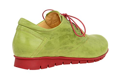 Derby Verde Stringate Donna Think Scarpe Menscha 282070 qI8PAf