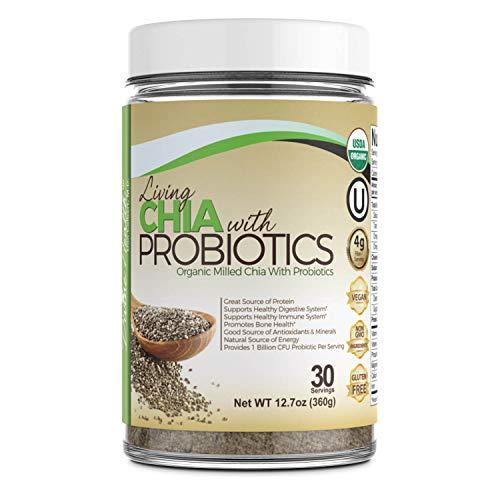 Dr.Colberts USDA Organic Milled Living Chia Seeds Plus Probiotics - 30 Day Supply - 1 Billion CFU