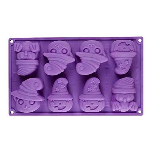 (xatos Cupcake Mold Small Creative Happy Halloween Silicone Pumpkin Cake Fondant Silicone Mold Kitchen Bake Tools)