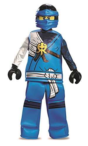 [Disguise Jay Prestige Ninjago LEGO Costume, Small/4-6] (White Ninja Costumes For Kids)