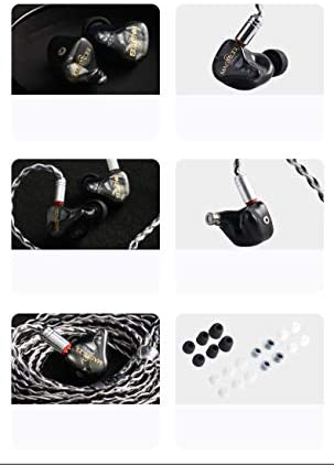 Linsoul Magaosi V3 2BA + 1DD Triple Driver Hybrid HiFi In-ear Earphone with 2pin Detachable cable for Audiophile Musician IEM