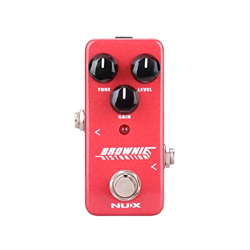 NUX Mini Core Brownie Distortion Guitar Effects Pedal Classical British Rock Tone True Bypass