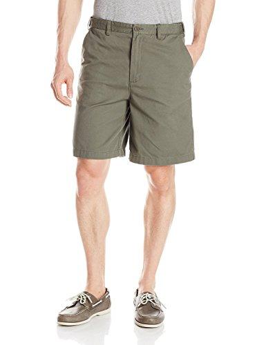 Geoffrey Beene Extender Waist Flat Front Shorts New Olive 32
