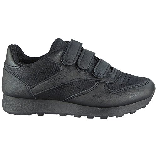 Kids Girls Running Trainers Childrens Glitter Sports Comfy Lace up Shoes Size 1-13 Black SYXjcny1