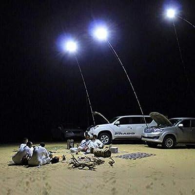 YalinGE Outdoor car Styling 12V Flip Cob LED Telescopic Lantern Camping Lamp Telescopic Light Night Fishing Road Trip with RF Controller