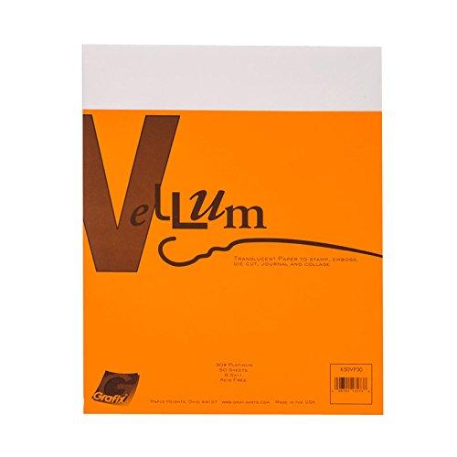 (Grafix 30-Pound 8-1/2-Inch by 11-Inch Vellum, 50-Pack, Platinum)