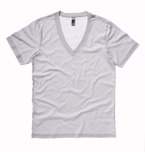 (Bella+Canvas Unisex Jersey Short-Sleeve Deep V-Neck T-Shirt, XX-Large, Silver)
