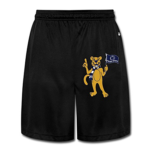 Dalymz Men Penn State Nittany Lions Shorts Sweatpants Custom 100% Cotton M Black (Sweatpants Cotton Penn)