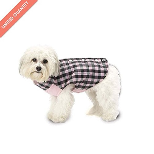 M Vail Checkered Dog Vest Pink