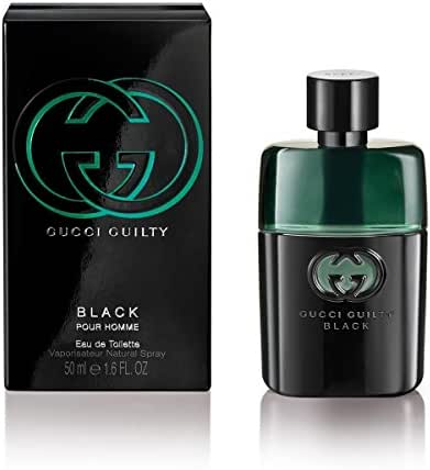 Gucci Eau de Toilette Spray for Men, Guilty Black Pour Homme, 1.6 Ounce