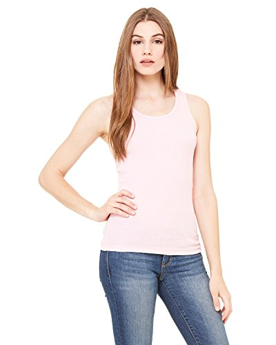 - Product of Brand Bella + Canvas Ladies 2x1 Rib Tank Top - Pink - 2XL - (Instant Savings of 5% & More)
