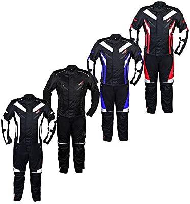 Traje de moto impermeable para hombre, armadura para motocicleta, 2 piezas, para motocicleta, carreras, todo tipo de clima, aprobado por la CE Armour