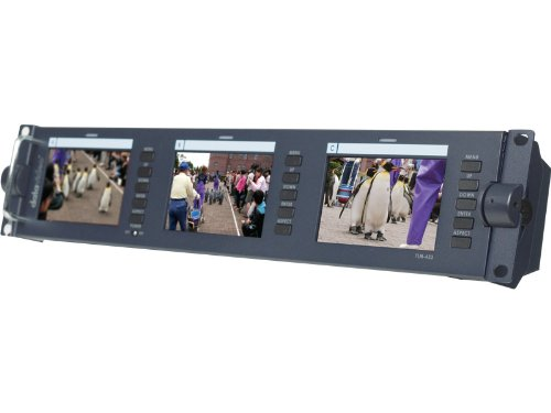 Datavideo TLM-433 19'' Rackmountable Bank of Three 4.5'' LCD Monitors, 480 x 234 Resolution by Datavideo