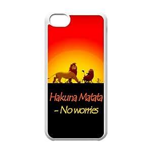 Hakuna Matata iPhone 5c Cell Phone Case White JU0994482