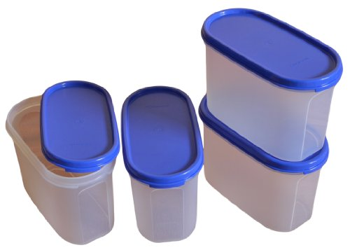 Tupperware Modular Mates Oval 2 Container Set, 1.1 Litres, 4-Pieces
