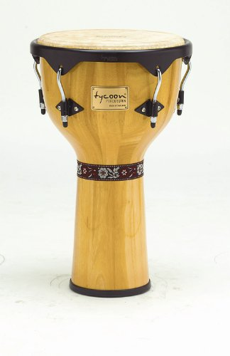 Tycoon Percussion 12 Inch Artist Series Djembe - Natural Finish by Tycoon Percussion