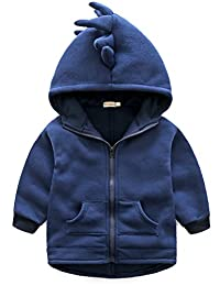 ARAUS Dinosaur Jacket Baby Boys Hooded Zip-up Cartoon Coat Outerwear Outfit