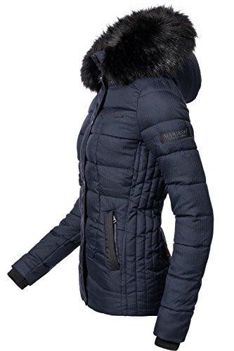 Marikoo 8 Veste Pour D'hiver Dame Unique Xs Matelassée Foncé Bleu xl Couleurs wSwafq1U4x