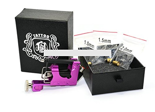 Noiseless Tattoo Gun Rotary Tattoo Machine Complete with three bearings only 100g Purple by Unknown