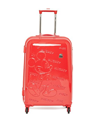 GAMME Mickey Polycarbonate 65 CMS Red Emboss Hard Sided Kids Luggage Trolley Bag GD16RGT010/11