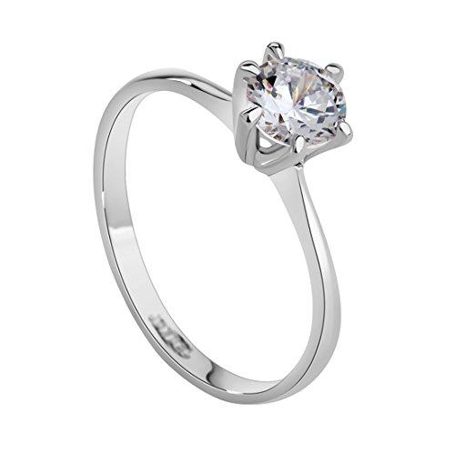 Swiss CZ Crystal Diamond Wedding Ring - 3