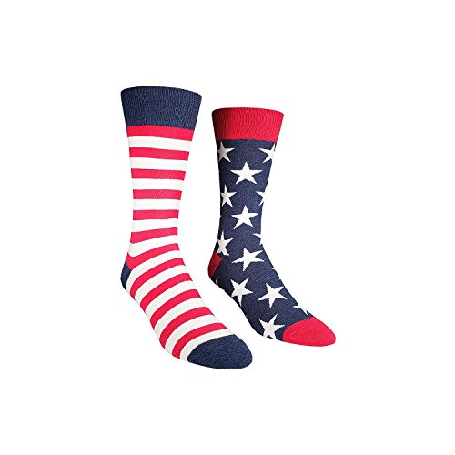 Socksmith  Men's Flag Vintage Blue 1 Sock (Star Rock Socks Crew)