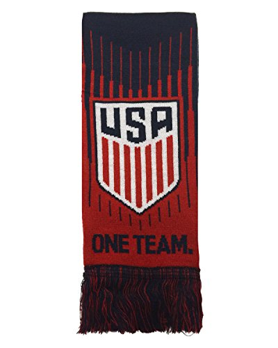 Official USA Soccer Scarf, One Team One Nation U.S. Soccer Scarf (Usa Official Soccer Ball)