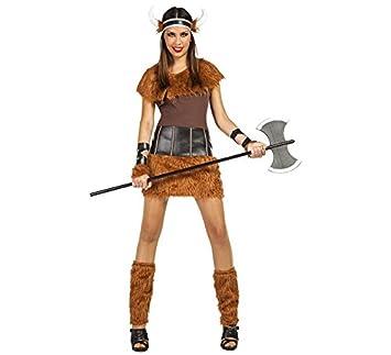 Car&Gus Disfraz de Guerrera Vikinga para Mujer: Amazon.es ...