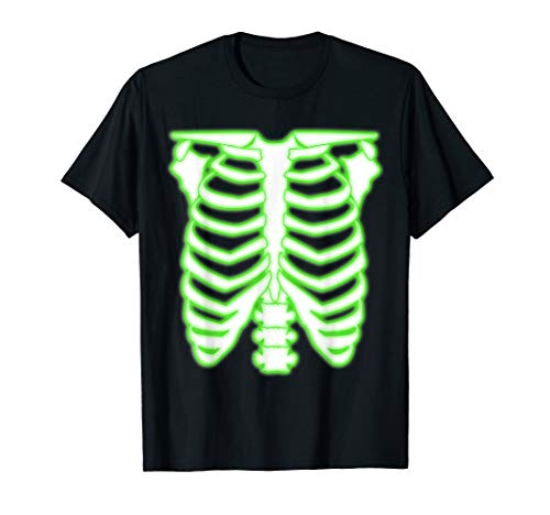 Halloween Radioactive Skeleton Rib Cage Costume T-Shirt -