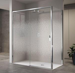 Mampara de ducha Opera 2p en 2 paneles: fijo + japonés o o 2P + F ...
