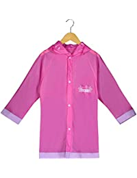 Frozen Little Girls' Waterproof Outwear Hooded Rain Slicker - Toddler