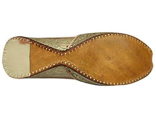 Step Mojari Traditional Jutti Style Shoe Handmade n Slippers Womwn's Punjabi Stylish rqw6axSzXr