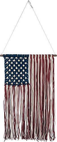 Primitives by Kathy Macrame Flag Wall Hanging Home Decor from Primitives by Kathy