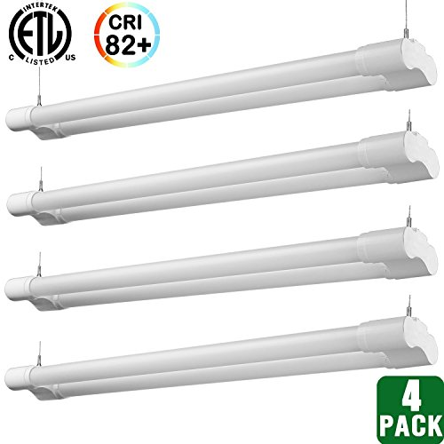 Hykolity 4ft 36 Watt Integrated LED Shop Light Hanging Ga...