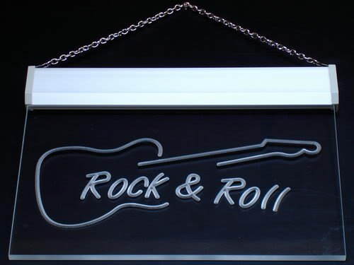 Roll Guitar Neon Sign - 7