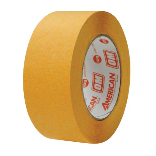 American OM (Orange Mask) High Temp Premium Paper Masking Tape, 36MM x 54.8M, (Case of 24 Rolls)