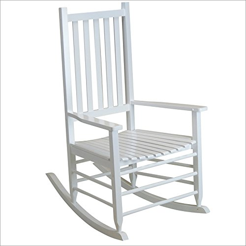 (Hinkle Chair Company Alexander Mid-Sized Adult Rocking Chair, White)