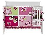 kidsline crib bumper - Tiddliwinks Raspberry Garden 3-pc. Crib Set
